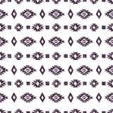 Elementos astecas da aquarela preta no fundo branco Fotografia de Stock