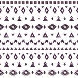 Elementos astecas da aquarela preta no fundo branco Fotos de Stock Royalty Free