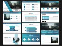 Elementos azuis dos moldes da apresentação em um fundo branco Infographics do vetor Uso na apresentação, no inseto e no folheto, ilustração do vetor