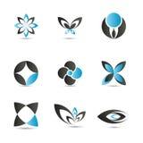 Elementos azules de la insignia libre illustration