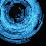 Elementos azules de la tecnología Imágenes de archivo libres de regalías