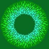 Elementos azules y verdes brillantes en un fondo verde oscuro libre illustration