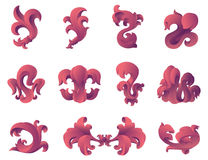 Elementos barrocos do projeto gráfico do estilo. Fotografia de Stock Royalty Free