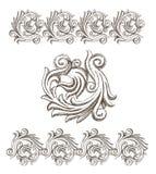 Elementos barrocos tirados à mão Imagem de Stock