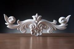 Elementos blancos de la decoración interior, diseño de la pared Fotografía de archivo libre de regalías