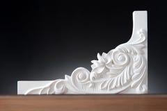 Elementos blancos de la decoración interior, diseño de la pared Imagen de archivo