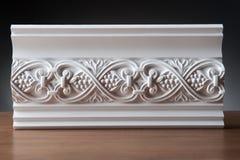 Elementos blancos de la decoración interior, diseño de la pared Fotos de archivo