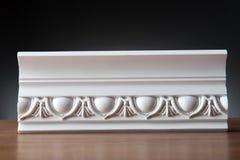 Elementos blancos de la decoración interior, diseño de la pared Imagen de archivo libre de regalías