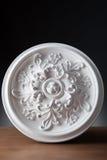 Elementos blancos de la decoración interior, diseño de la pared Imagenes de archivo