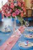 Elementos bonitos da decoração do projeto da cerimônia de casamento com arco, Foto de Stock Royalty Free