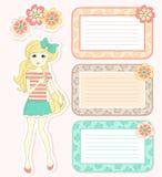 Elementos bonitos do projeto ilustração royalty free