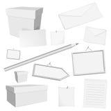 Elementos brancos do escritório do vetor Imagem de Stock Royalty Free