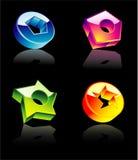 Elementos brillantes del diseño de la alta calidad ilustración del vector