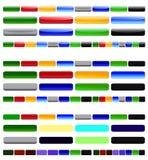 Elementos brillantes del diseño web Fotografía de archivo libre de regalías