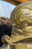 Elementos brillantes del metal de una nave vieja Imagen de archivo libre de regalías
