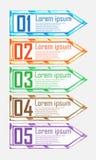 Elementos brillantes modernos para el infographics del negocio Foto de archivo libre de regalías