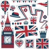 Elementos britânicos Fotografia de Stock Royalty Free