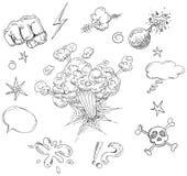 Elementos cómicos stock de ilustración