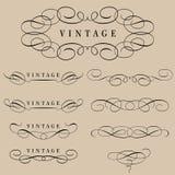 Elementos caligráficos Fotografia de Stock