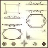 Elementos caligráficos Ilustración del Vector