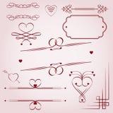 Elementos caligráficos Stock de ilustración