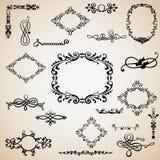 Elementos caligráficos Foto de archivo