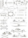 Elementos caligráficos Imagens de Stock Royalty Free