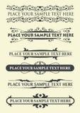Elementos caligráficos de la vendimia Fotografía de archivo