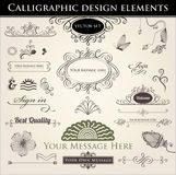 Elementos caligráficos del diseño Fotografía de archivo libre de regalías