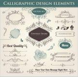 Elementos caligráficos del diseño Imagen de archivo libre de regalías