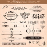 Elementos caligráficos del diseño stock de ilustración