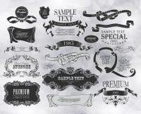 Elementos caligráficos del diseño Foto de archivo