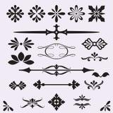 Elementos caligráficos del diseño ilustración del vector