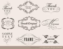 Elementos caligráficos del diseño Imagen de archivo