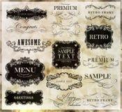 Elementos caligráficos del diseño Fotografía de archivo