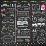Elementos caligráficos del diseño de la Navidad