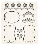 Elementos caligráficos del diseño del vintage Fotografía de archivo libre de regalías