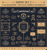 Elementos caligráficos del vintage Sistema del Barroco del vector libre illustration