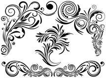 Elementos caligráficos determinados del vintage. stock de ilustración