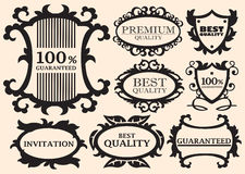 Elementos caligráficos do projeto Imagens de Stock Royalty Free