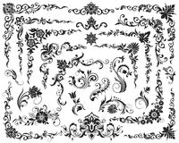 Elementos caligráficos do projeto Fotografia de Stock