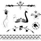 Elementos caligráficos do projeto Foto de Stock