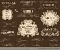 Elementos caligráficos do projeto Foto de Stock Royalty Free