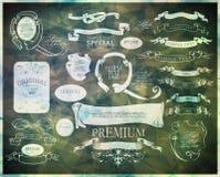 Elementos caligráficos do projeto Fotos de Stock