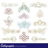 Elementos caligráficos do projeto Imagem de Stock Royalty Free