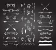 Elementos caligráficos do projeto ilustração do vetor