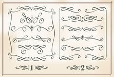 Elementos caligráficos do projeto Imagem de Stock