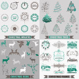 Elementos caligráficos do projeto do Natal Fotos de Stock Royalty Free