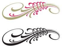 Elementos caligráficos do projeto do vetor decoração Foto de Stock