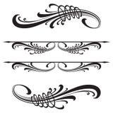 Elementos caligráficos do projeto do vetor decoração Fotos de Stock